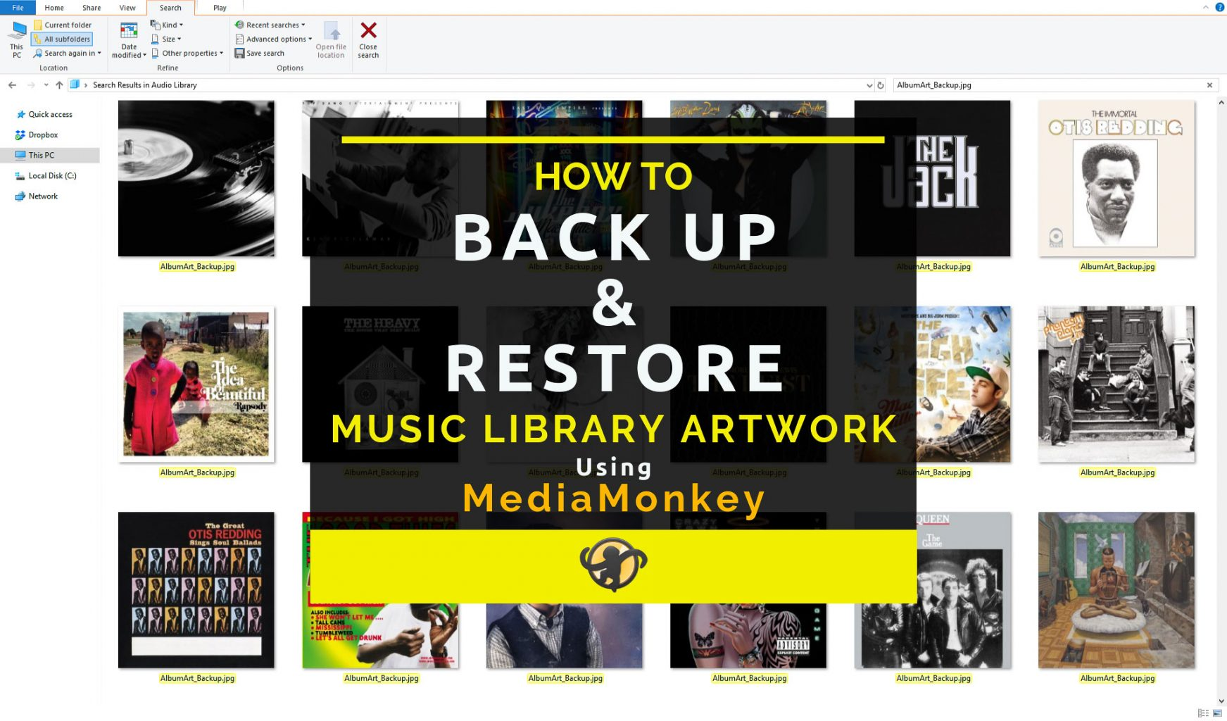 How to Backup & Restore Music Library Artwork - Main Thumbnail